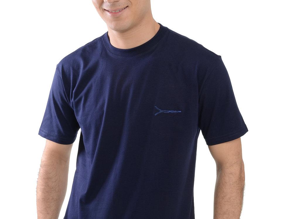 Camiseta Masculina Clássica Zíper