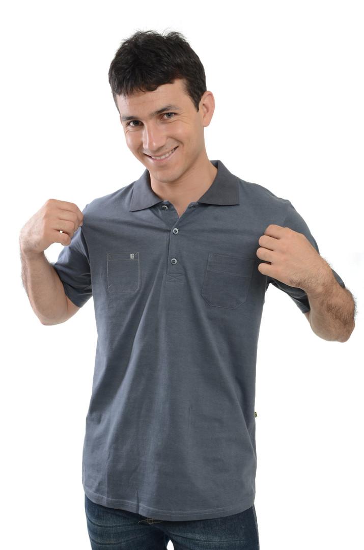Camiseta Polo Meia Malha Estonada - SkU 30001E