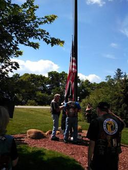 RTMC5 Flag raising