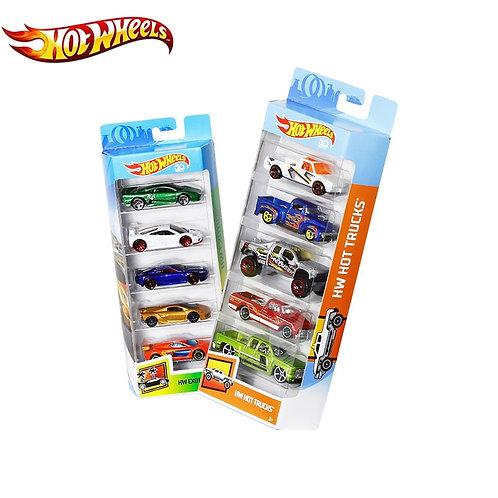 5 Pcs/Lot Hotwheels 1:64 Sport Car Set Metal