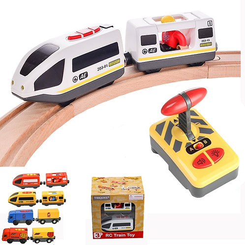 RC Electric Train Set With Carriage Sound and Light  Express Truck