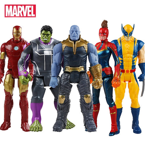 30cm Marvel Avengers Toys Thanos Hulk Buster Iron Man Action Figure