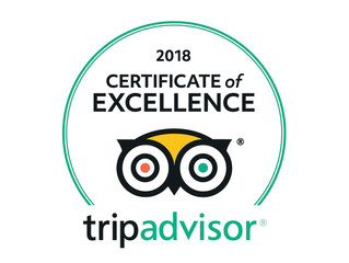 Trip Advisor Certificate of Excellence 2018 for our cycling holidays