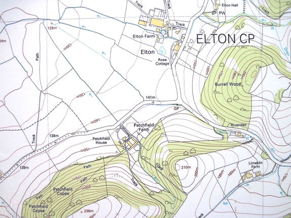 Petchfield Farm map, crown copyright MC100014594