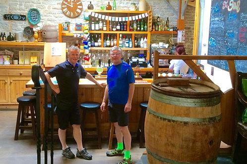 Craft Beer at The sun Inn, Leintwardine, cycling holidays