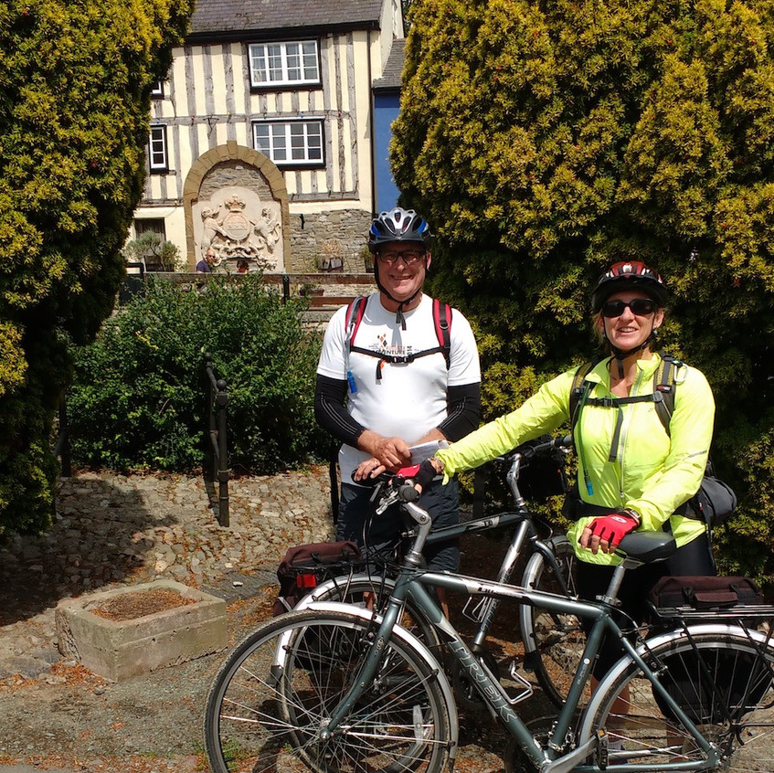Cyclists in Bishops Castle