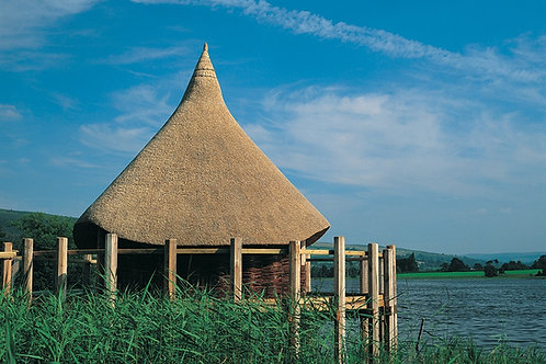 Crannog at Llangorse Lake, cycling holidays