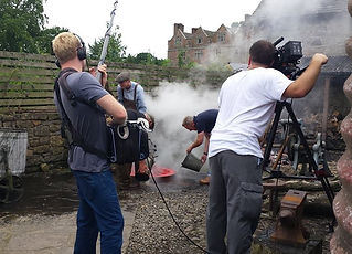 BBC Escape to the Country filming Jules Hudson at Acton Scott Farm