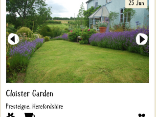 Visit NGS Gardens during your Herefordshire Gardens Cycling Holiday
