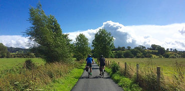 BBC Escape to the Country filming cycling in Shropshire with Wheely Wonderful Cycling