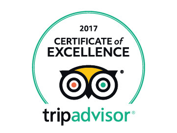 Trip advisor Certificate of Excellence 2017 for Wheely Wonderful Cycling Holidays