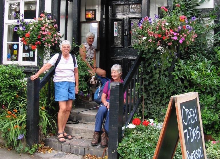 Riverside Inn Aymestrey on mortimer Trail walking holiday