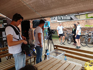 BBC Escape to the Country, filming Shropshire Cycling at Petchfield Farm Wheely Wonderful Cycling