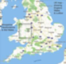 UK Cycling holiday map