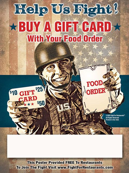 FREE Gift Card War Poster