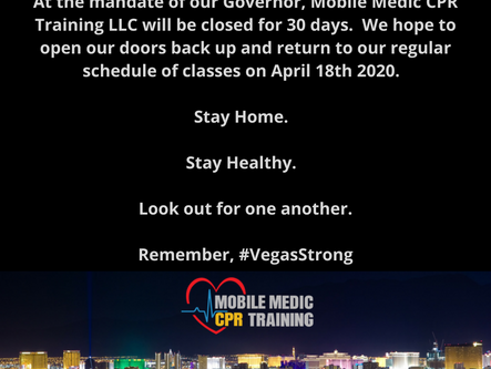 We will be closed until April 18th 2020