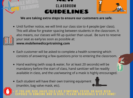 New Classroom Guidelines