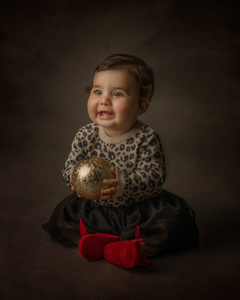 young child during a Christmas photo session
