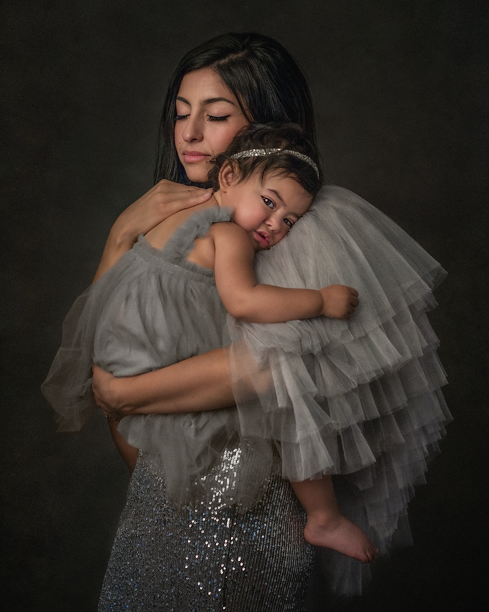 A professional image of a mother and her young daughter