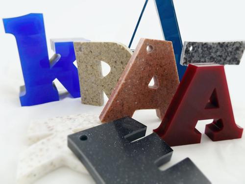 3D Buchstaben Steinoptik