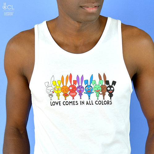 TANK TOP 'LOVE ALL' WHITE