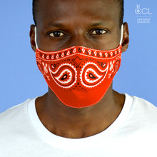 FACE MASK 'RED MUSTACHE'