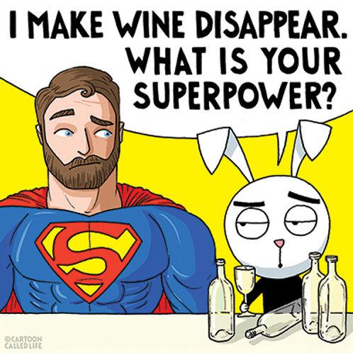 POSTCARD 'SUPERPOWER'