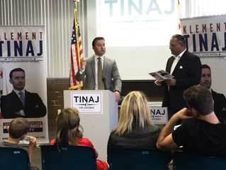 Gubernatorial Candidate Klement Tinaj announces his 10-point action plan for California