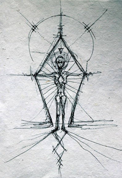 Concept sketch for 'The Portal Wound' performance