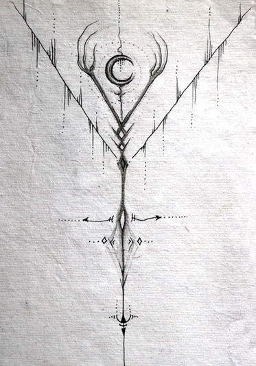 Maya's tattoo sketch 2