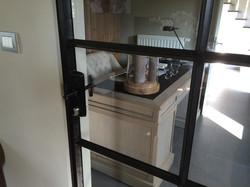 Old school deur met stopverf !