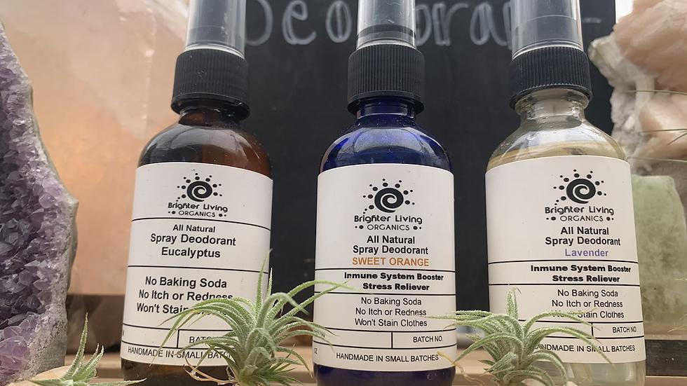 All Natural Spray Deodorant  ( magnesium chloride base )