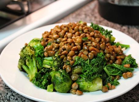Ensalada de Brócoli con Lentejas