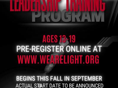 Youth Leadership Training begins in September: Register now!