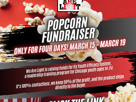 Our first Double Good popcorn fundraiser!