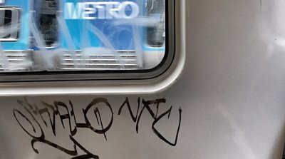 Graffiti on train - Graffiti Removal and Protection