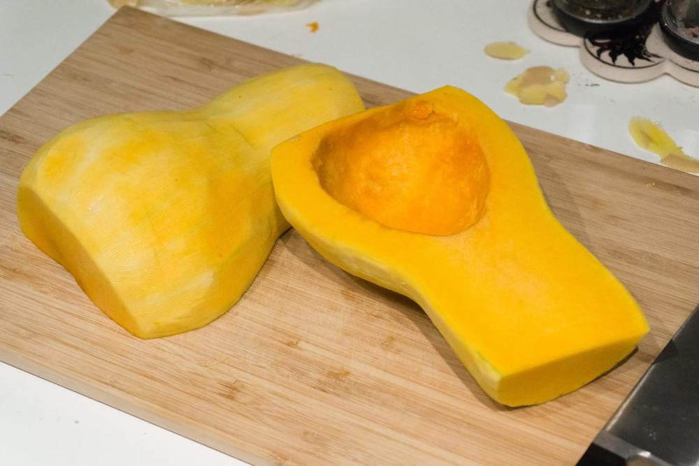 Butternut Squash Halved