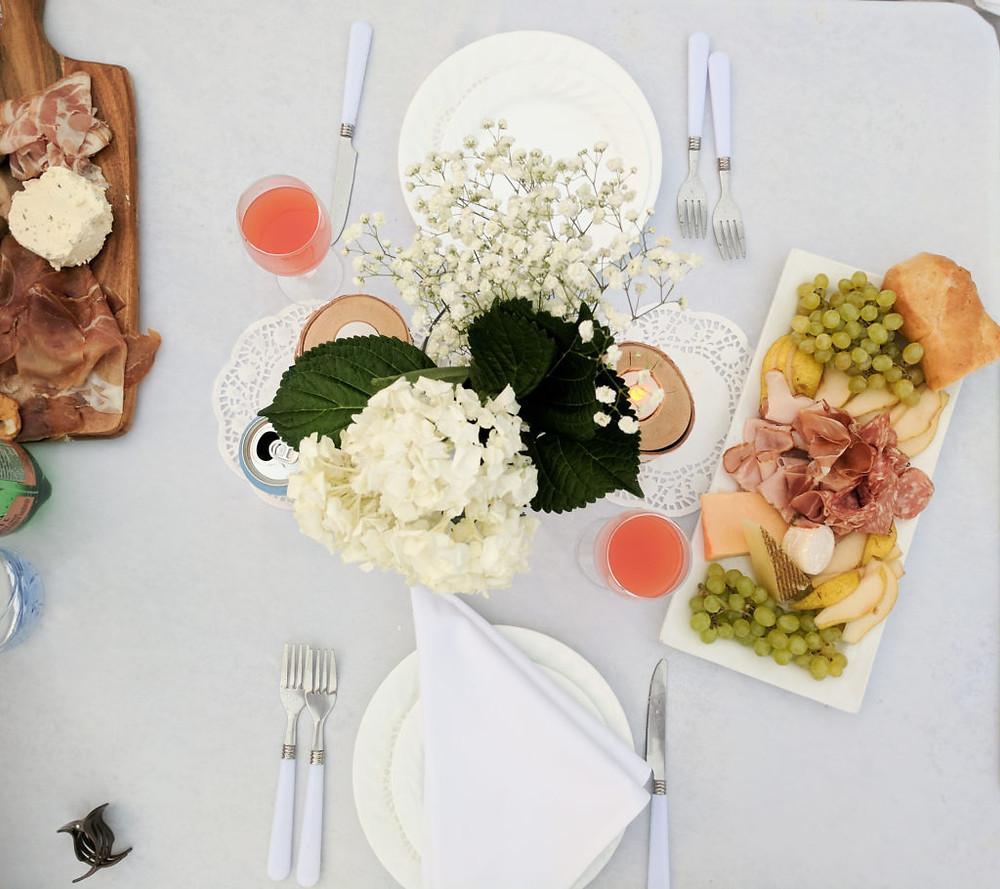 Diner en Blanc - table