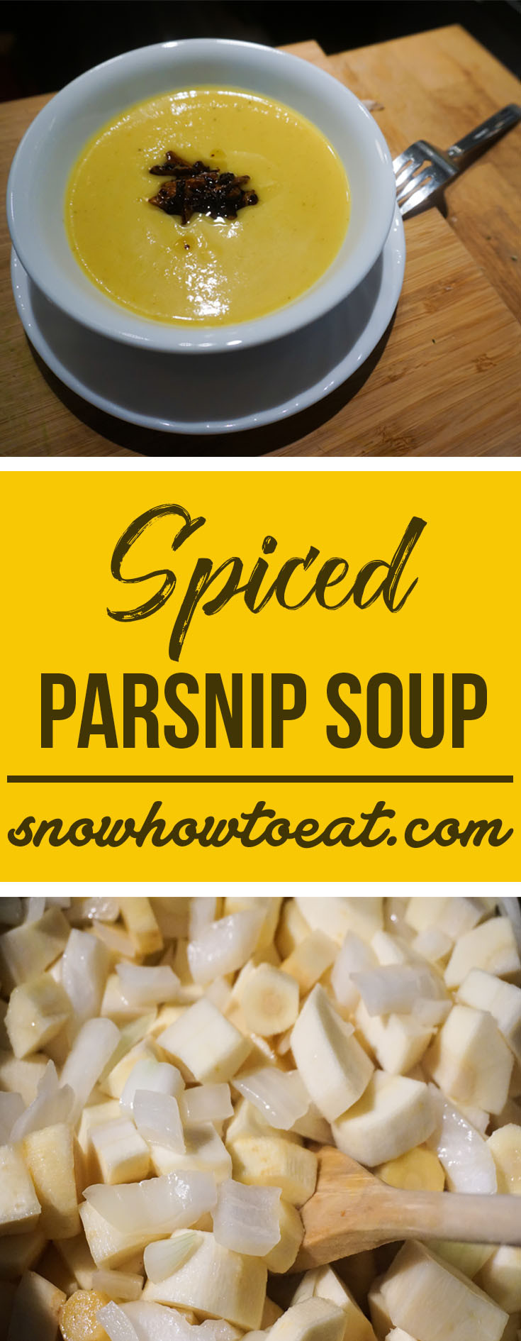 Try this warm, spiced parsnip soup this frosty winter season!