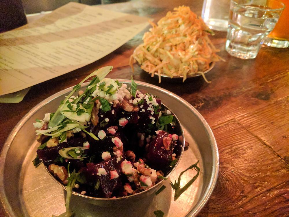 Smoque N' Bones Beet Salad & Coleslaw