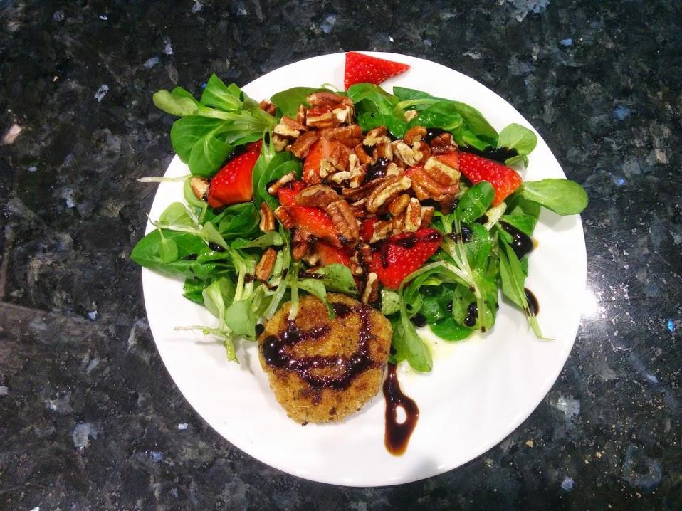 Fried Goat Cheese & Rapunzel Salad