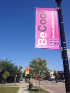 Pole Banners that were digitally printed on our large format press and sewn in house!