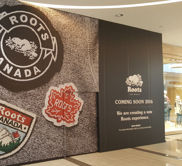 These mall and exterior hoardings are all printed in house on a large format digital press and can be installed by our own Category 5 install team!