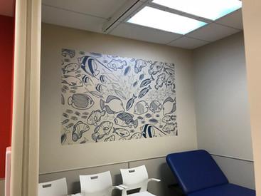 wall, interior, digital print, printing