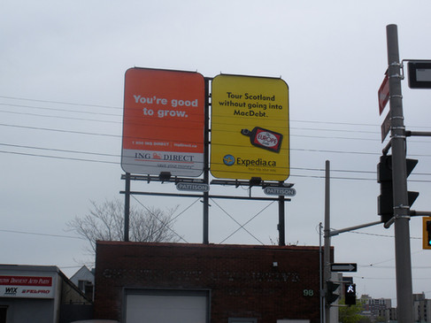 Vertical Billboard that was digitally printed on our large format press