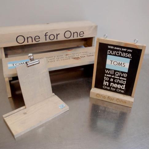 Custom design and digital print on wood.