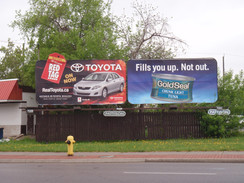 Billboard that was digitally printed on our large format press