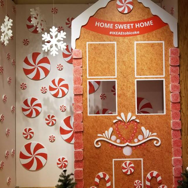 Printed on a large format digital press and digitally diecut to shape for the holidays