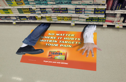 These floor graphics were printed on our large format digital presses and are made with anti-slip material for customer safety!  These can be installed for you, by our own install team!