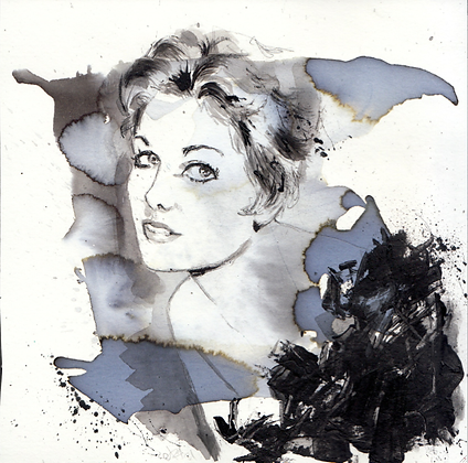 Kim Novak original artwork 14x14cm